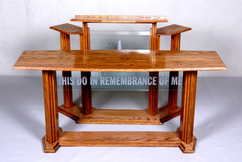 Wood And Glass Pulpit Contemporary Wood Pulpit
