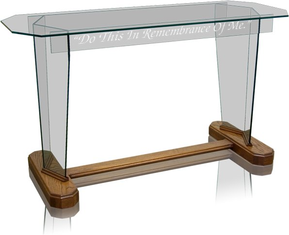 Glass Communion Table