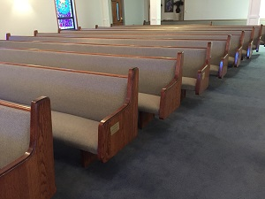 Pew Upholstery at Warner Temple AMEZ Wilmington, NC